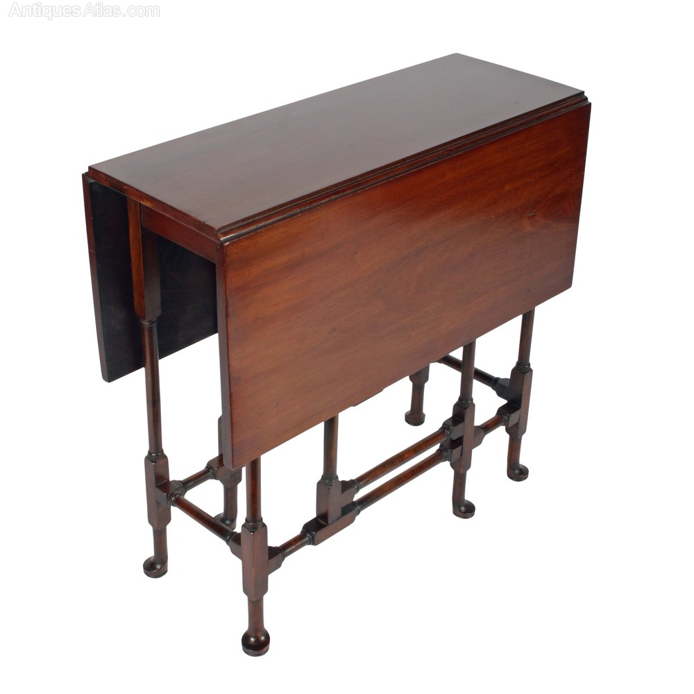 39 spider 39 base drop leaf table antiques atlas for Antique drop leaf dining table