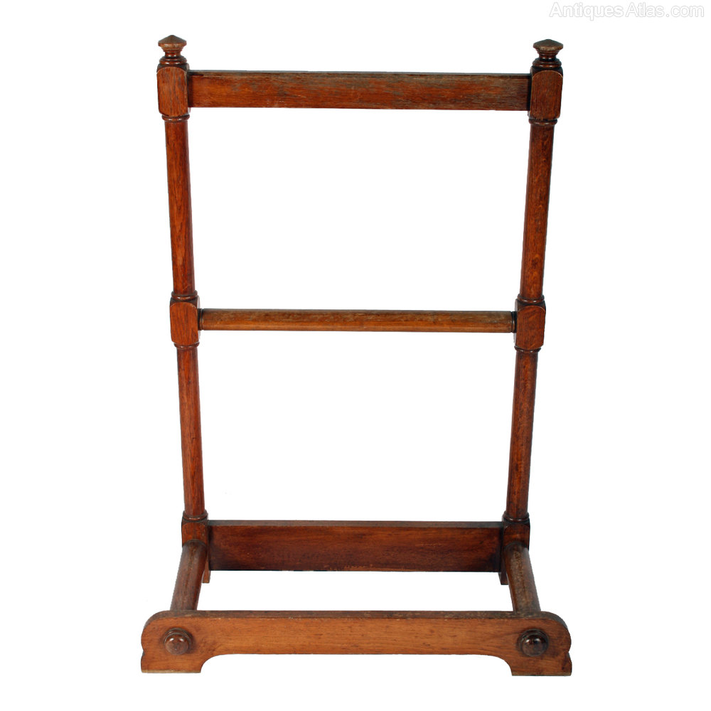 Victorian oak luggage clothes stand antiques atlas