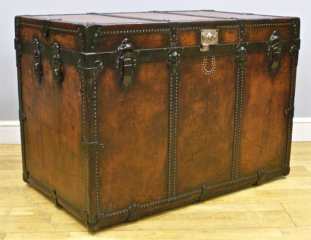 Leather Steamer Trunk 22
