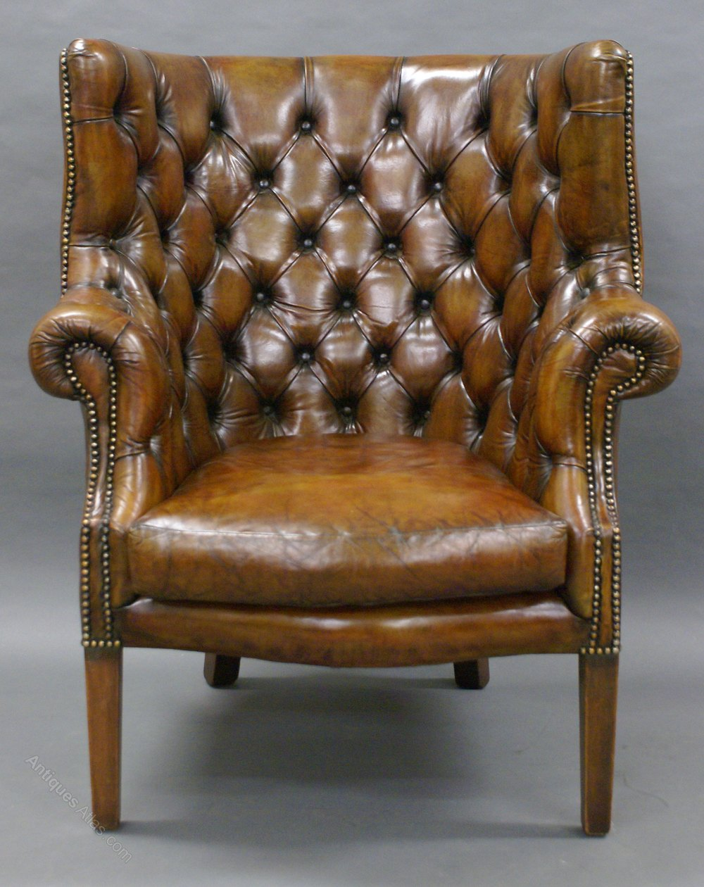 Antique barrel chair -  Antique Barrel Back Armchairs Arm Chair Wing Chair Leather