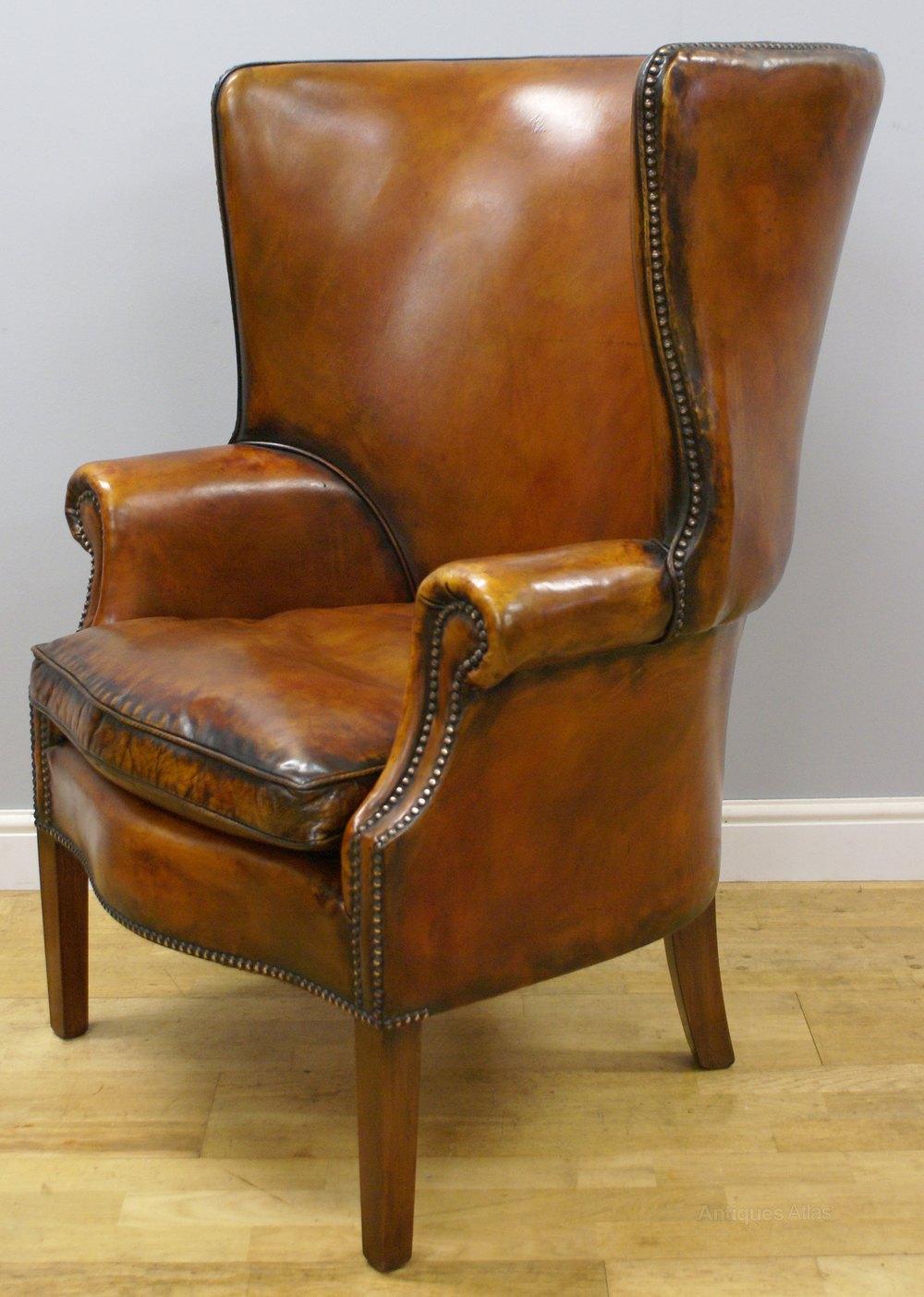 a georgian style barrel back wing chair antique wing chairs . a georgian style barrel back wing chair  antiques atlas