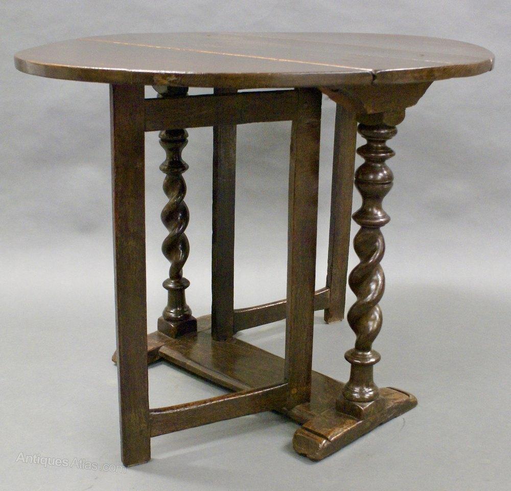 A Rare Charles Ii Small Oak Gate Leg Table Antiques Atlas
