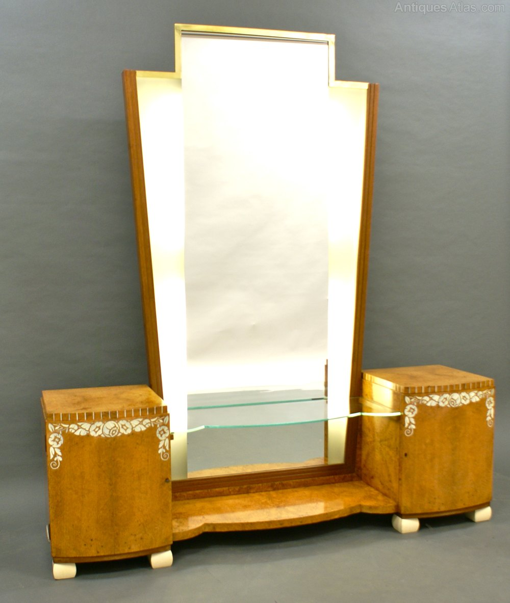 antiques atlas a superb quality french art deco dressing mirror. Black Bedroom Furniture Sets. Home Design Ideas
