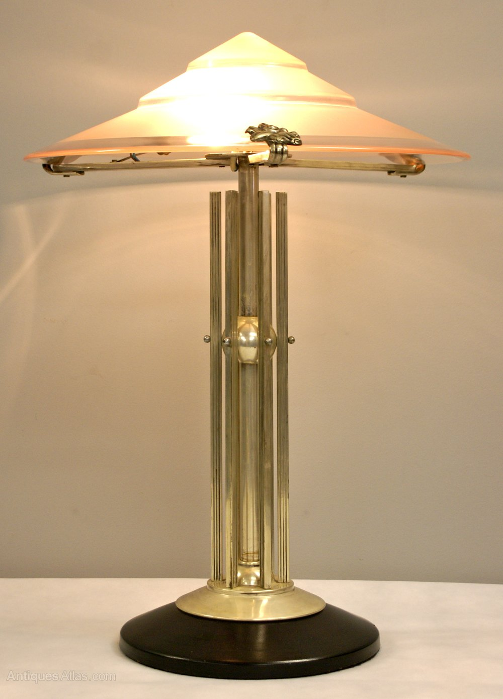 Antiques atlas an art deco table lamp for Art deco style lamp