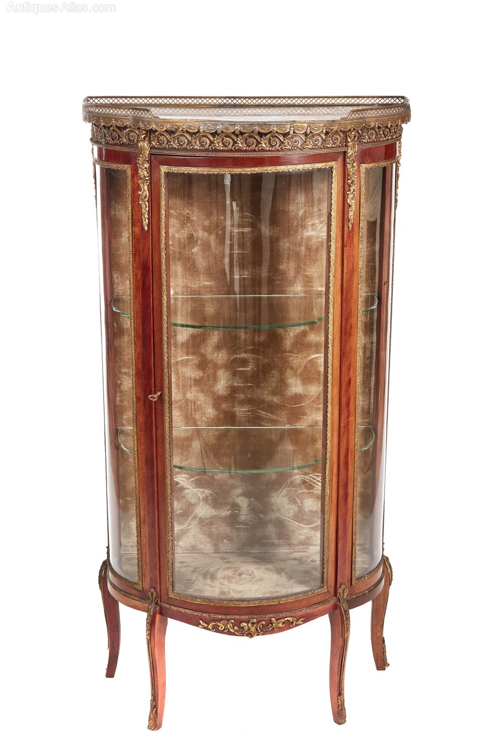 french mahogany and gilded brass vitrine antiques atlas. Black Bedroom Furniture Sets. Home Design Ideas