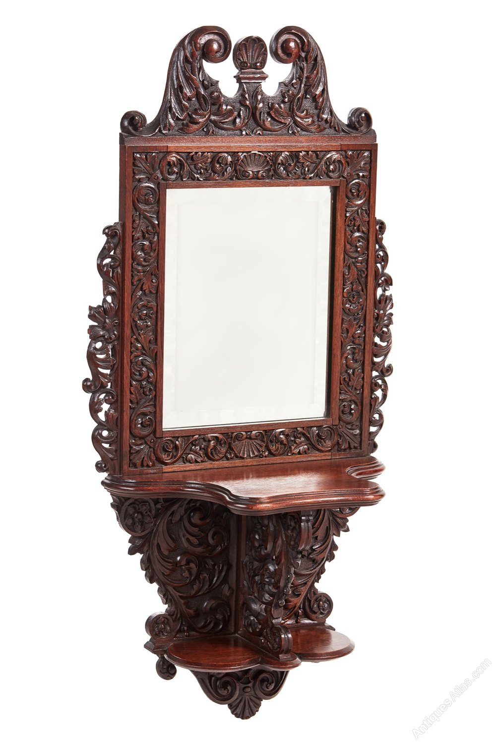 Antiques atlas outstanding quality victorian carved wall for Victorian mirror
