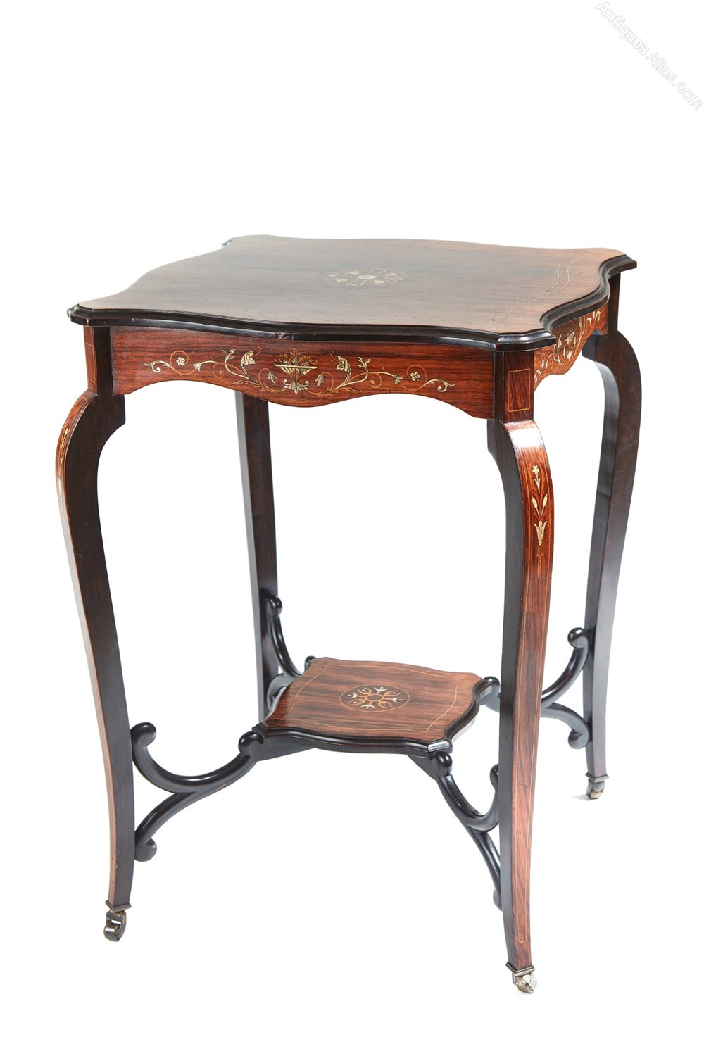 Quality inlaid rosewood occasional table antiques atlas for Occasional tables