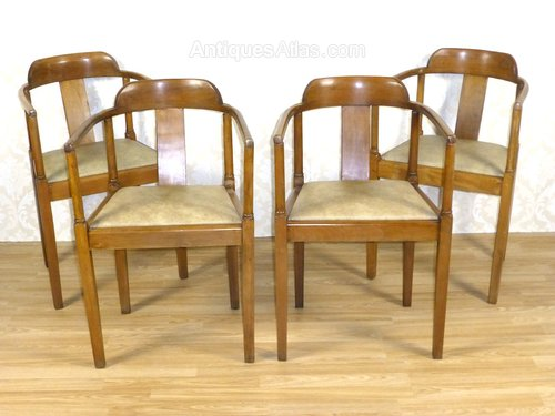 4 art deco captains tub dining chairs antiques atlas art deco dining chairs