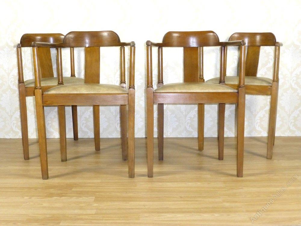 4 Art Deco Captains Tub Dining Chairs Antiques Atlas