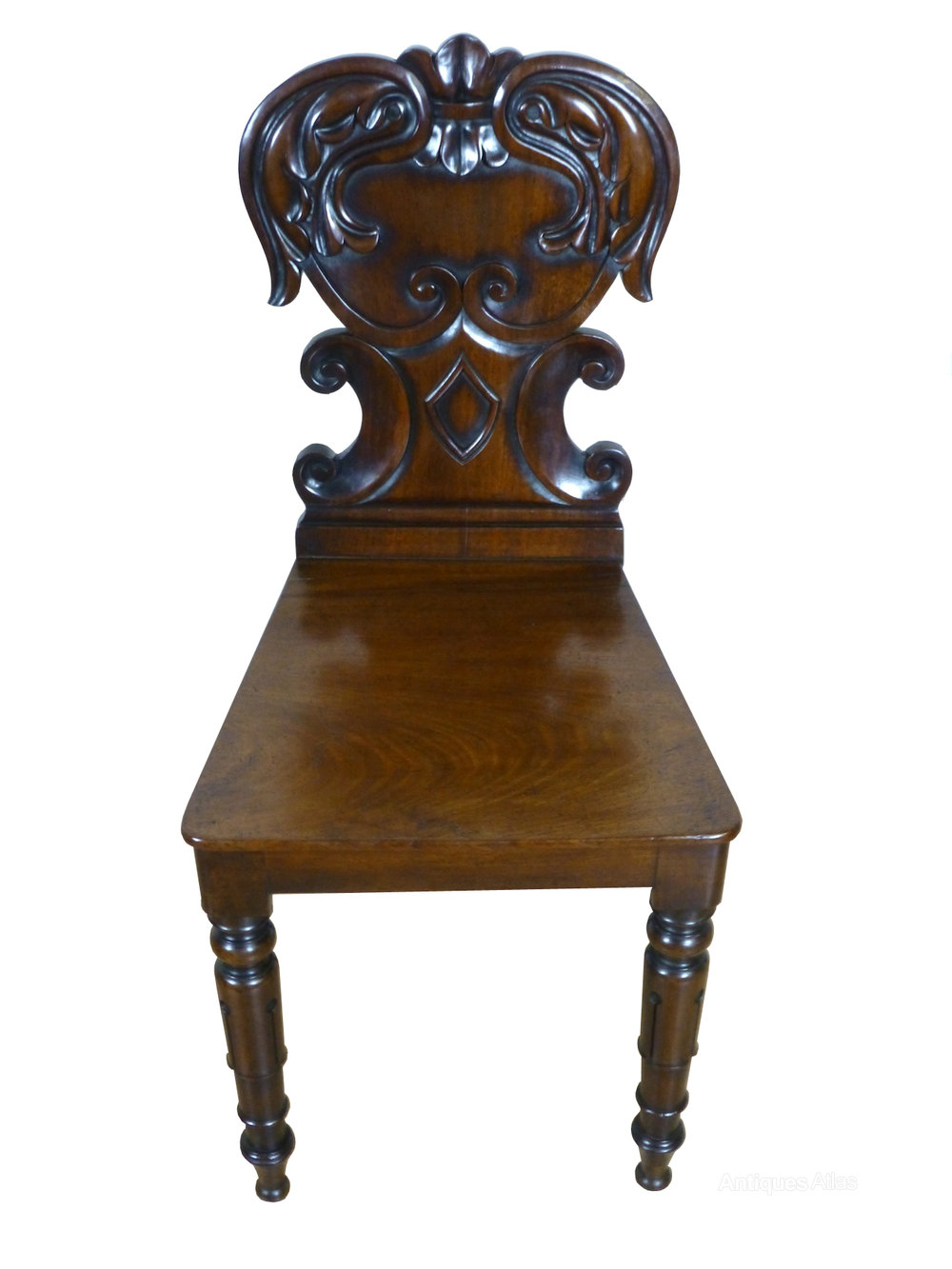 Antique Foyer Chair : Antique th century mahogany hall bedroom chair