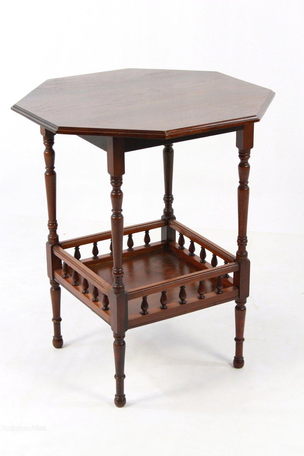 Antique Edwardian Walnut Octagonal Side Hall Table