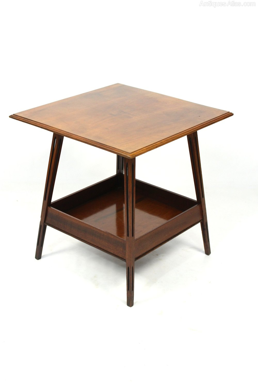 Antique edwardian walnut side occasional table antiques for Occasional tables