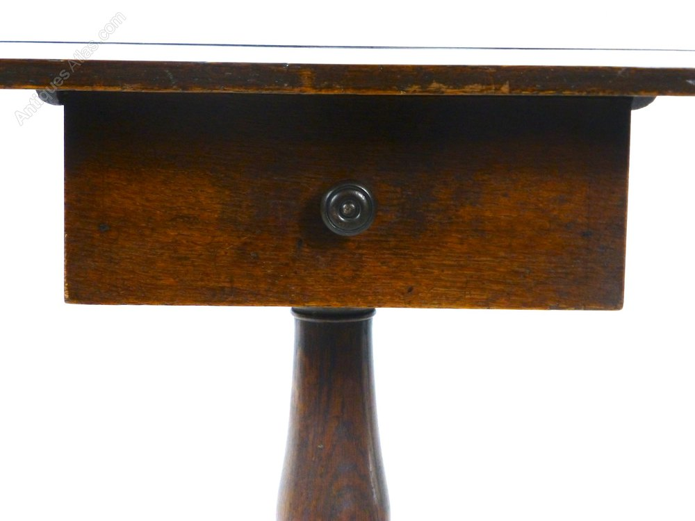 Antique Oak Occasional Side Table With Drawer Antiques Atlas