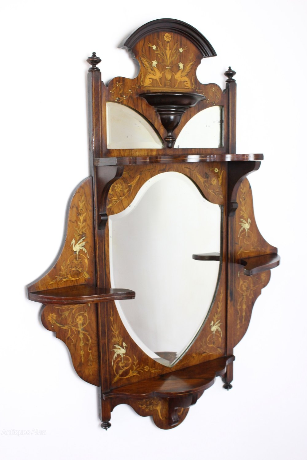 Antiques atlas antique victorian inlaid rosewood wall mirror for Victorian mirror