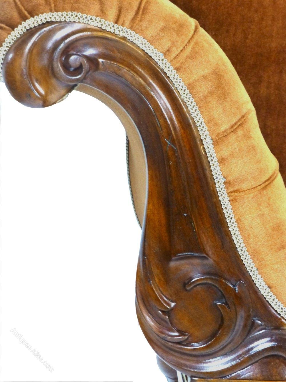 Antique victorian mahogany chaise longue sofa antiques atlas for Antique victorian chaise longue