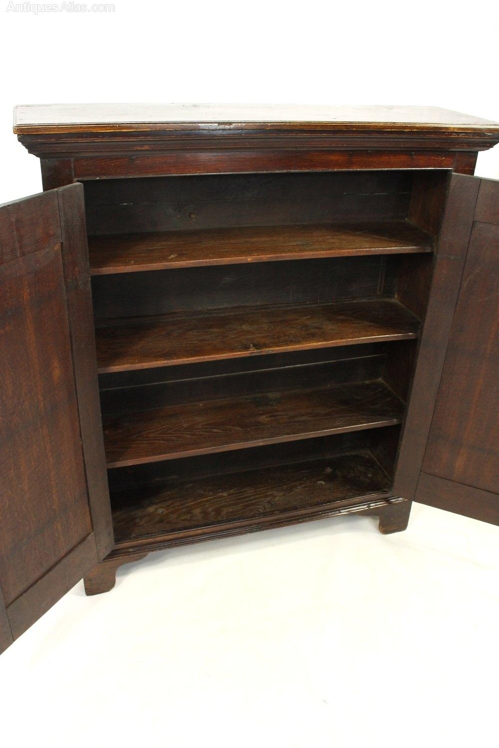 Georgian Oak Cabinet Cupboard Bookcase Antiques Atlas