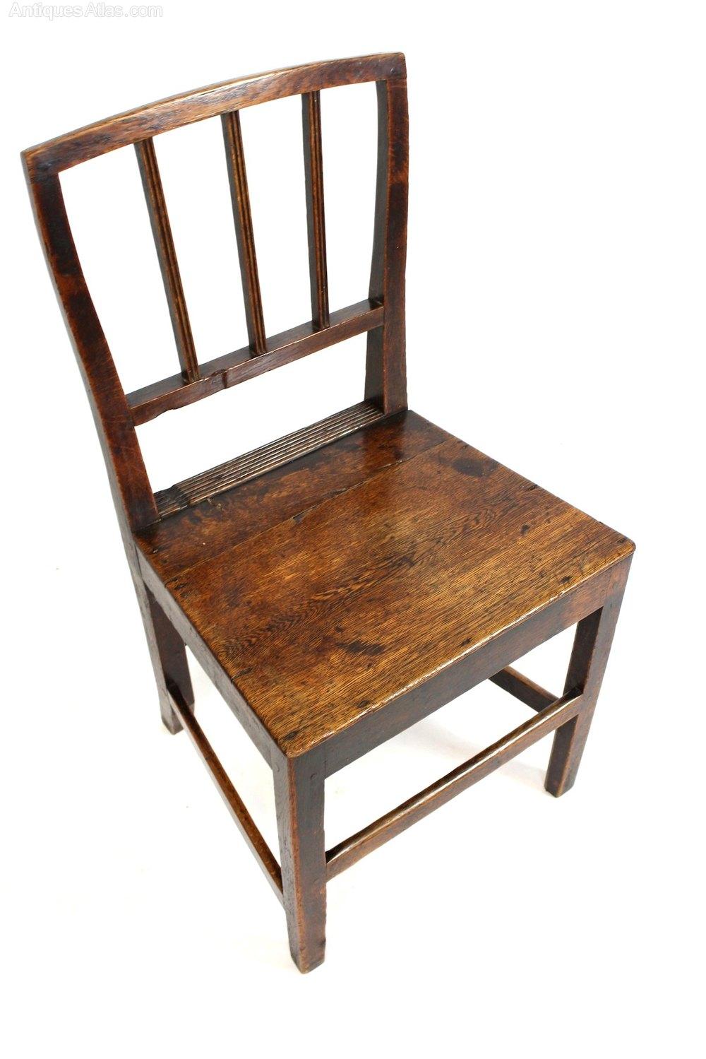 Georgian oak rustic farmhouse kitchen hall chair for Georgian farmhouse interiors