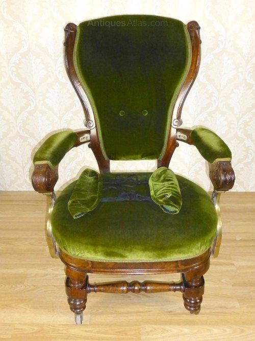 Rare Victorian Walnut Pullman Train Chair Antiques Atlas