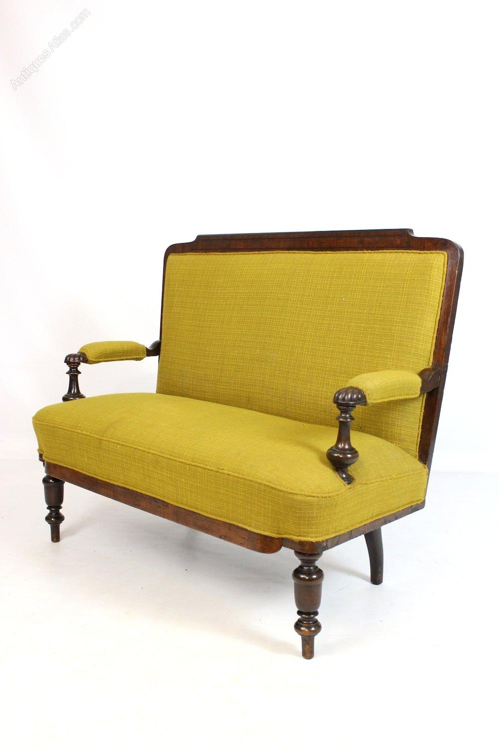 Victorian mahogany 2 seat sofa settee reupholstery for Antikes sofa gebraucht