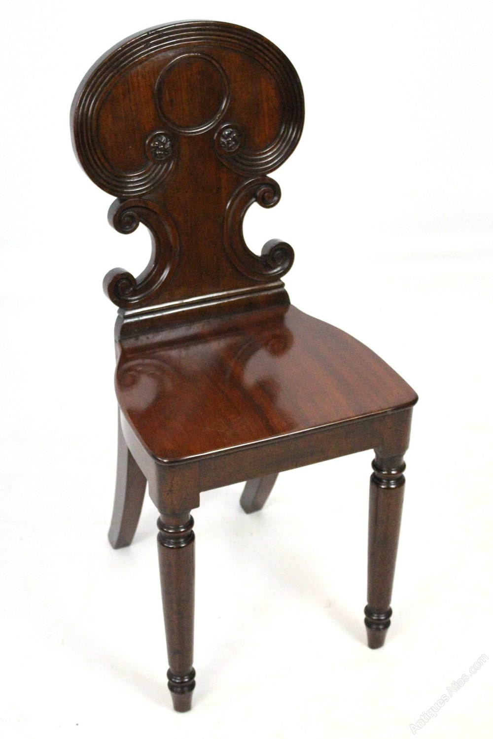 Victorian Mahogany Hall Chair Smaller Dimensions