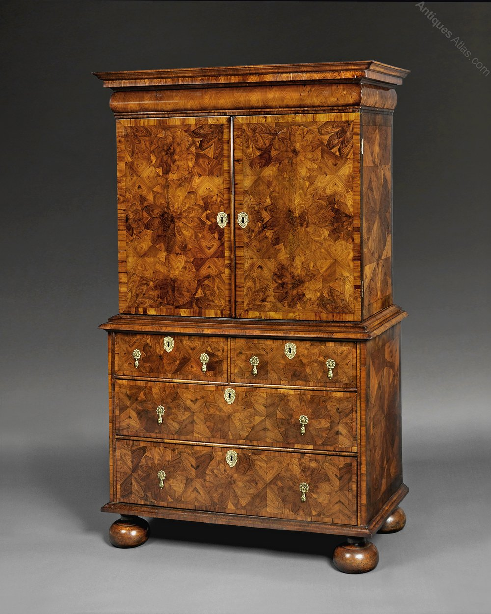 William And Mary Kingwood Cabinet On Chest Antiques Atlas