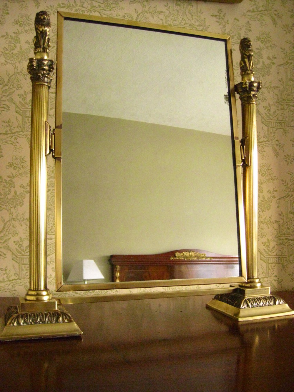 Antiques Atlas Brass Framed Toilet Dressing Table Mirror