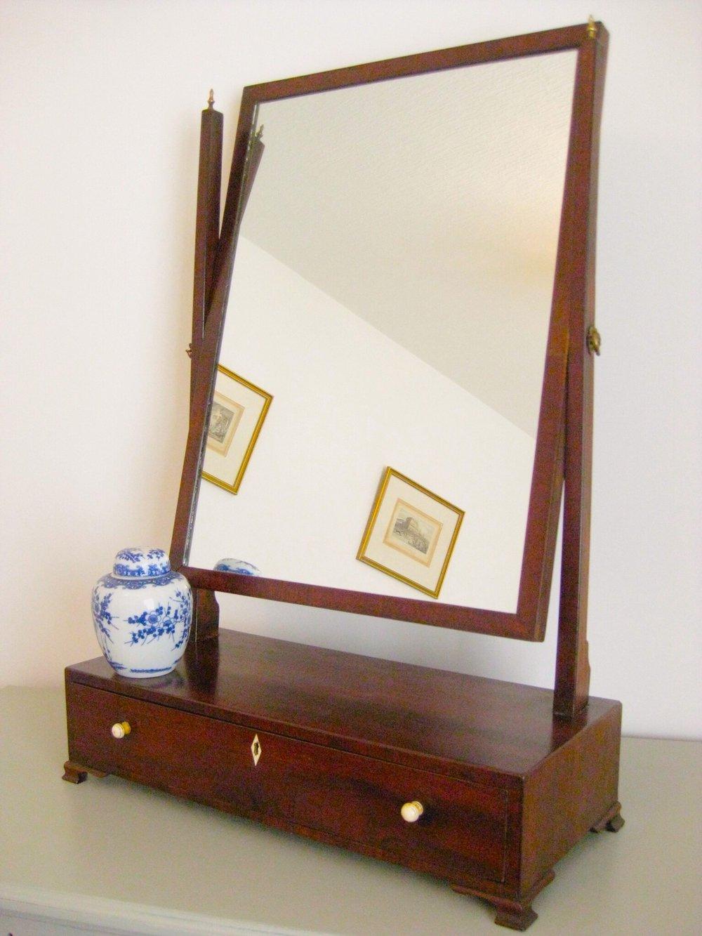 antiques atlas large mahogany toilet dressing table mirror. Black Bedroom Furniture Sets. Home Design Ideas