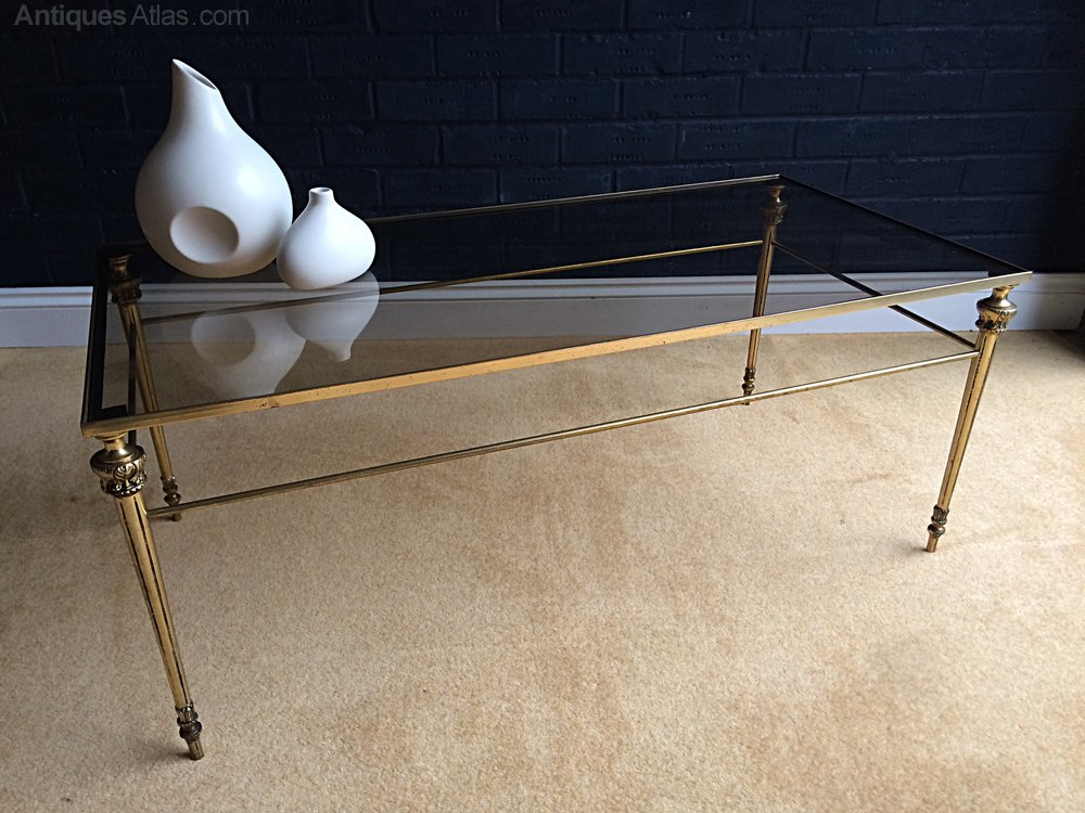 Antiques Atlas Mid Century Brass Glass Coffee Table