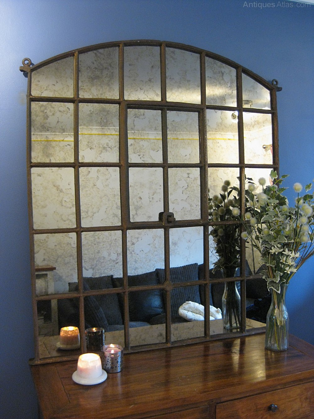 Antiques Atlas Large Victorian Factory Window Mirror