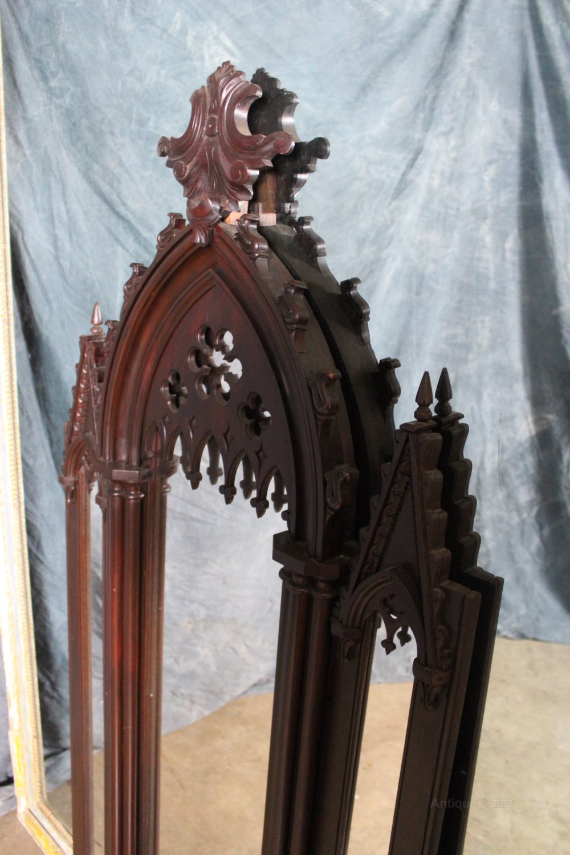 Antiques Atlas Victorian Gothic Mahogany Mirror