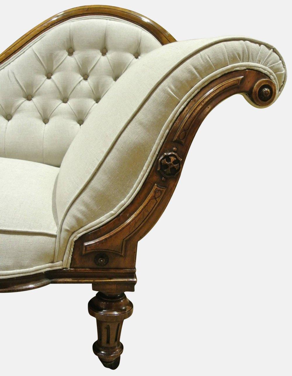 19th c walnut chaise longue antiques atlas for Chaise longue 2 personnes