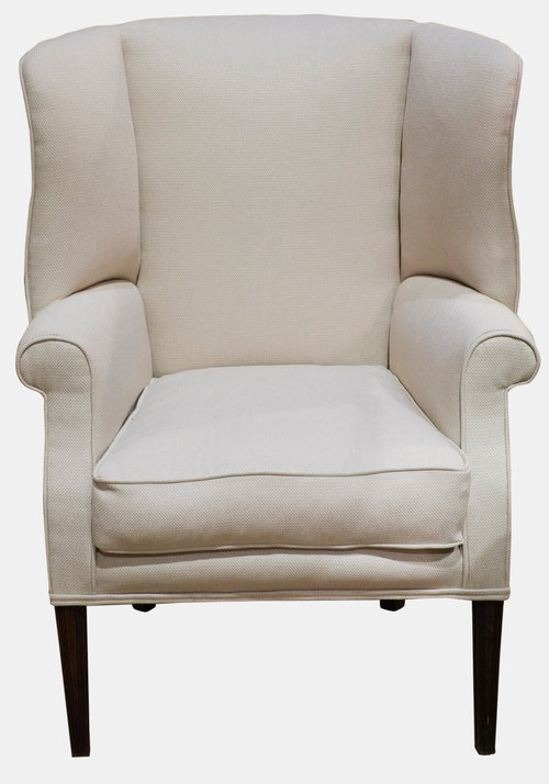 Elegant Wingback Armchair - Antiques Atlas
