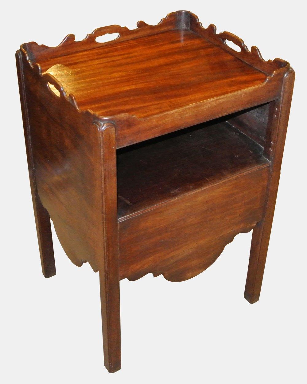 georgian bedside commode cabinet antiques atlas. Black Bedroom Furniture Sets. Home Design Ideas