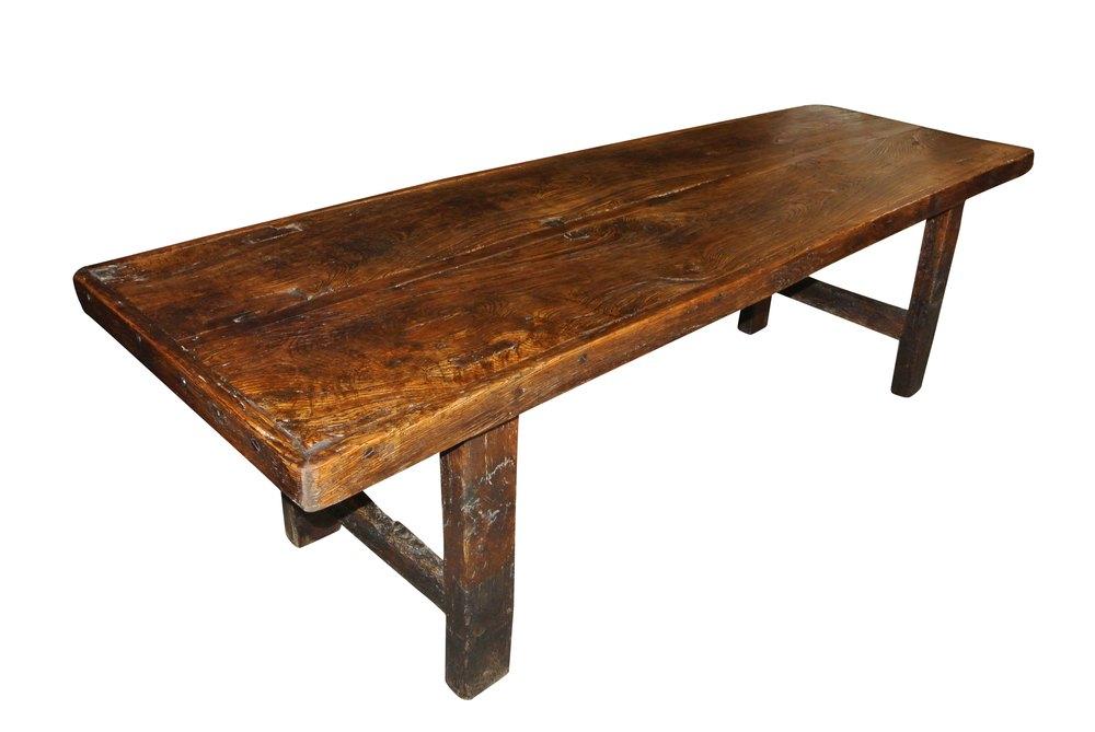 large antique farmhouse table