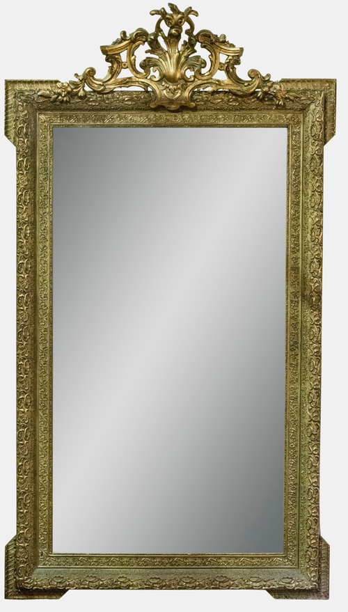 Antiques atlas large victorian rococo mirror for Victorian mirror