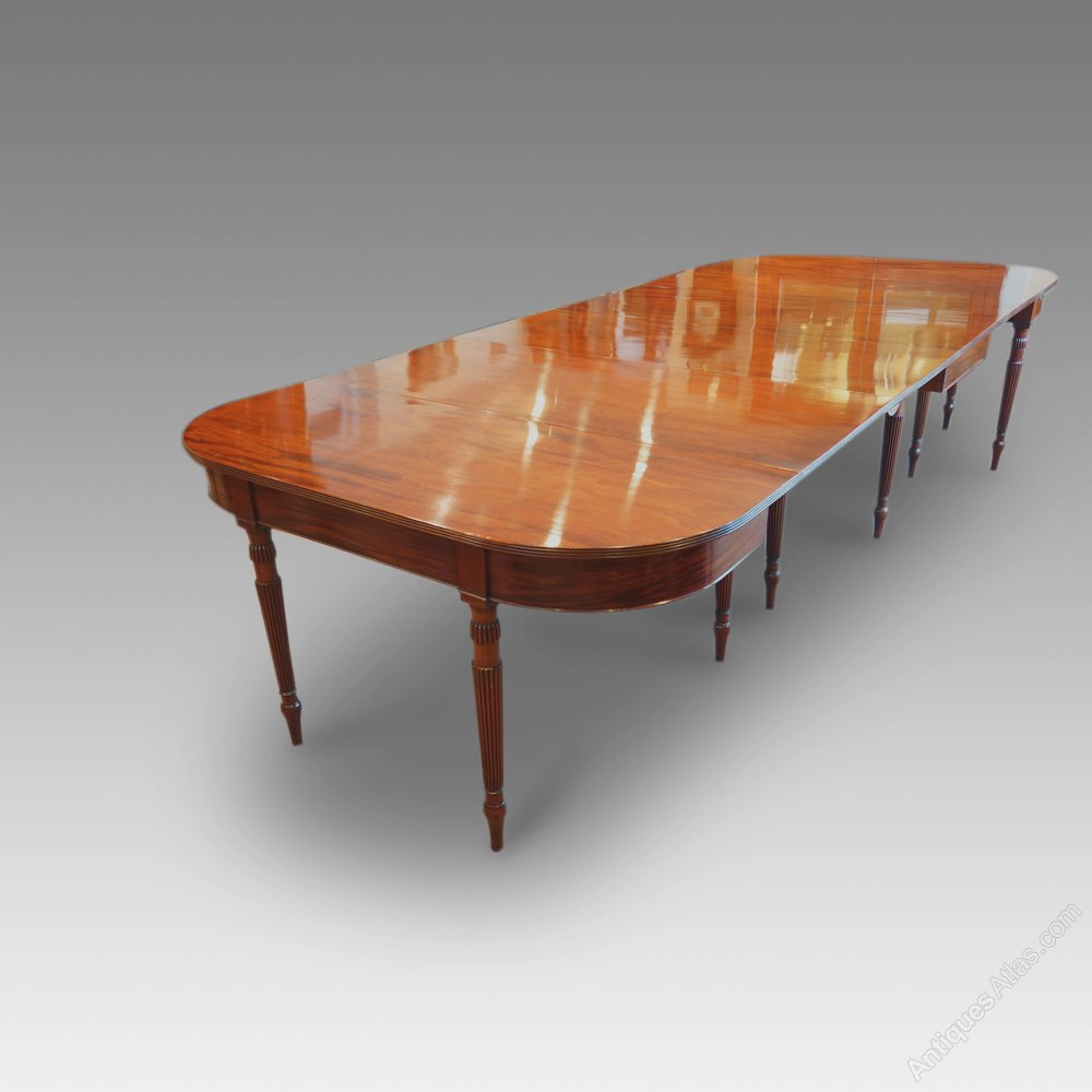 Antique mahogany 12 seat gillow dining table antiques atlas for 12 seat dinning table