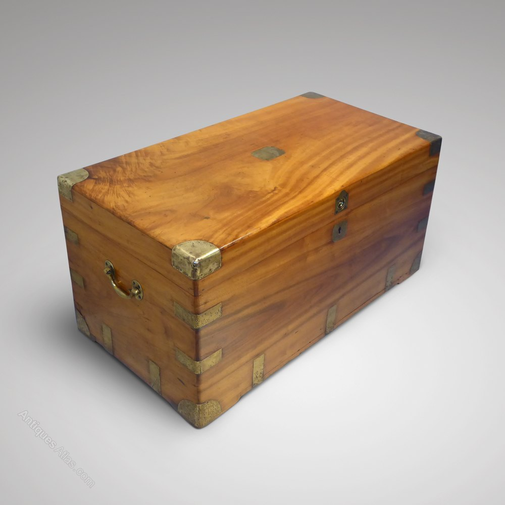 Camphor Wood Chest ~ Th century camphor wood campaign chest antiques atlas