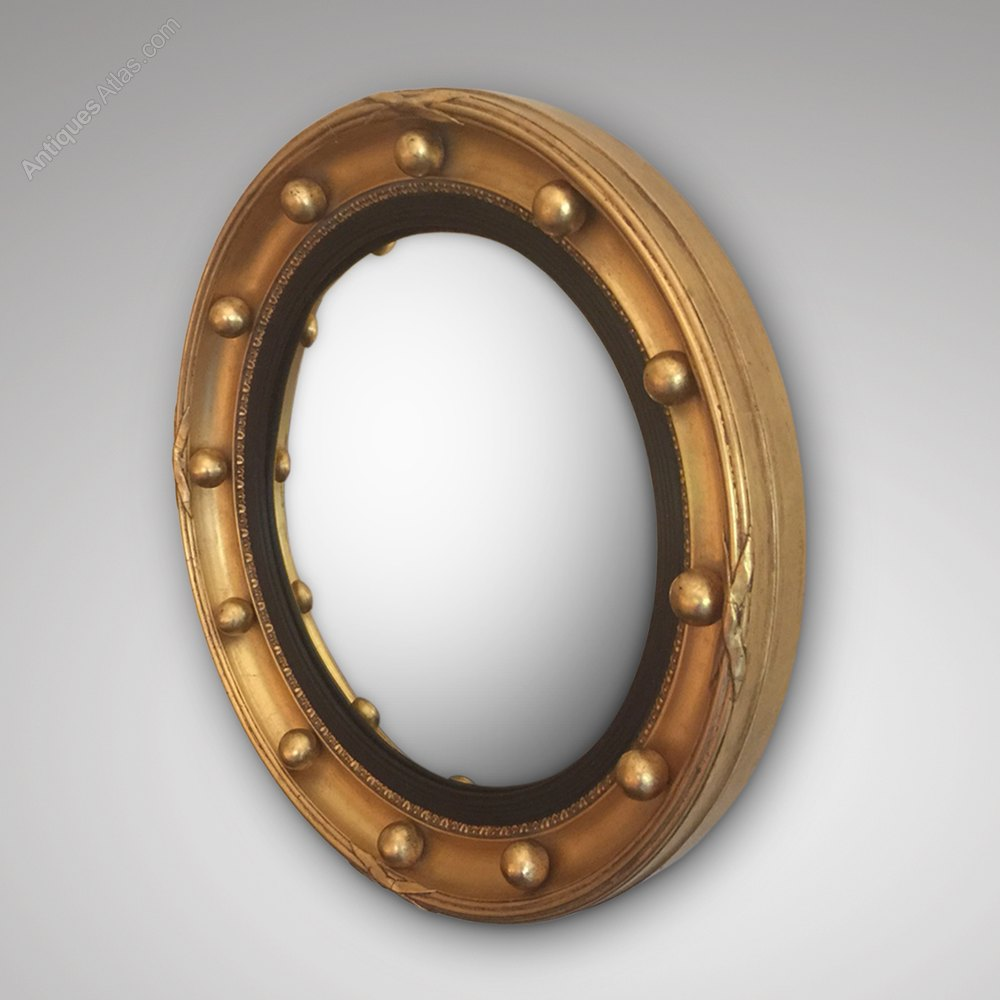 Antiques atlas late victorian circular convex mirror for Convex mirror