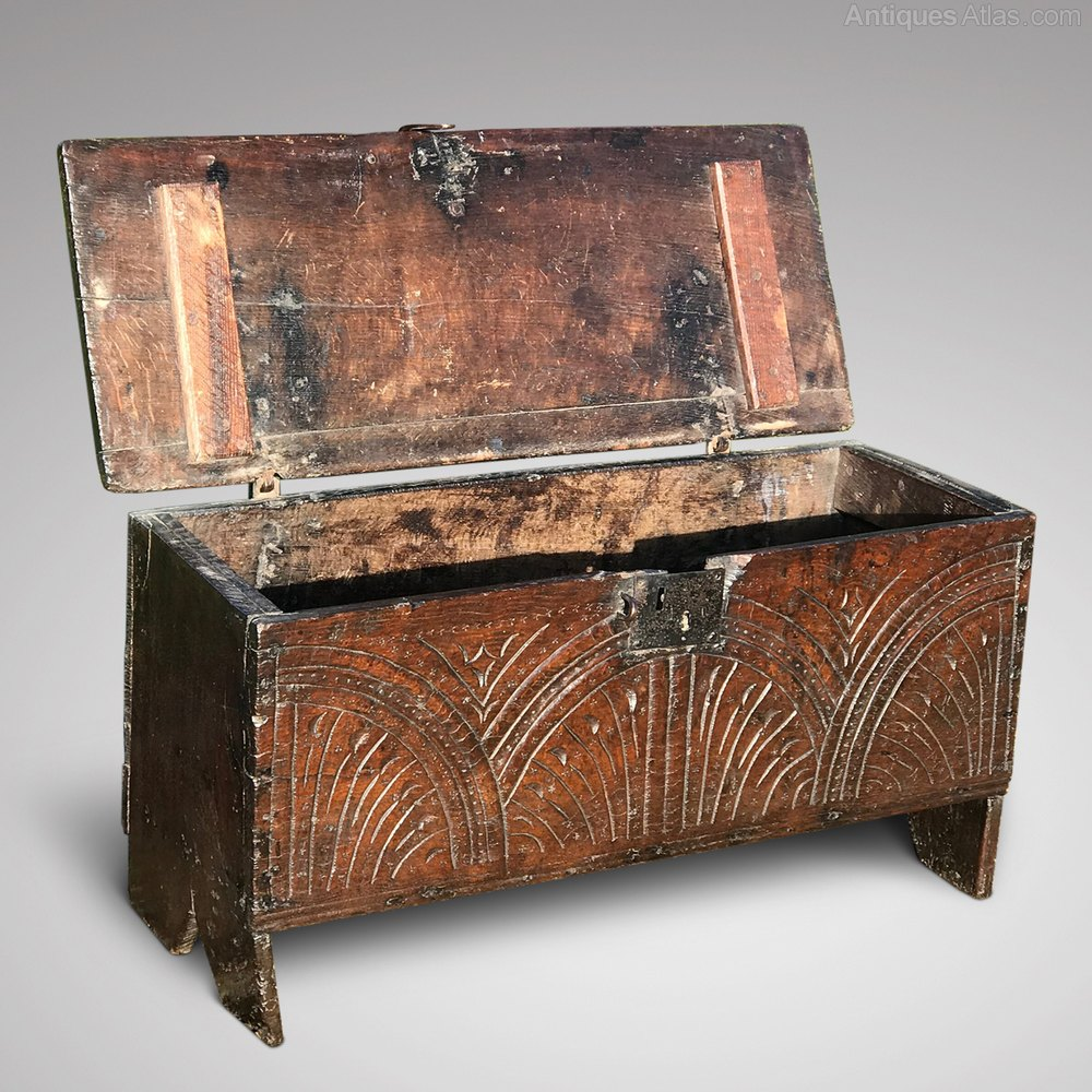Small 17th Century Carved Oak Coffer Antiques Atlas