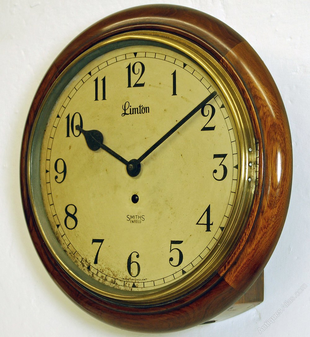 Antiques Atlas Anglo Indian Limton Wall Clock By Smiths