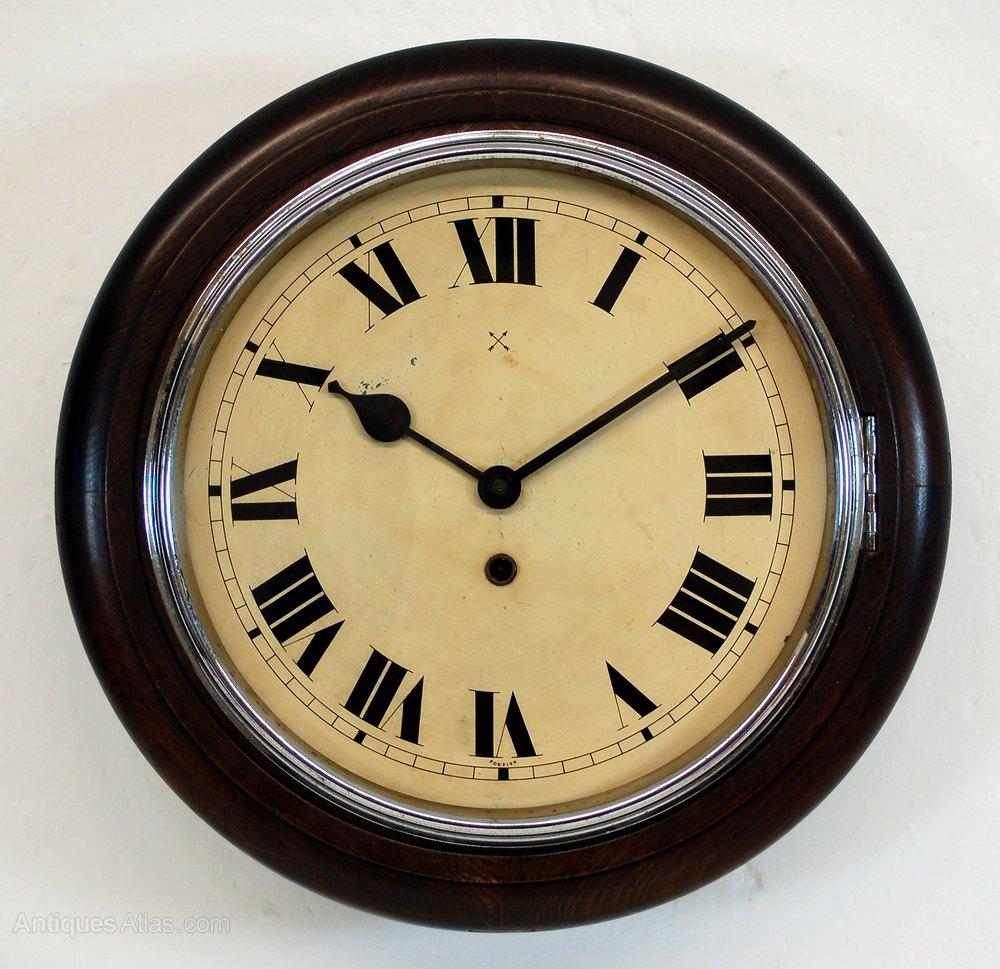 Antiques Atlas Antique Kitchen Clock With Chrome Bezel