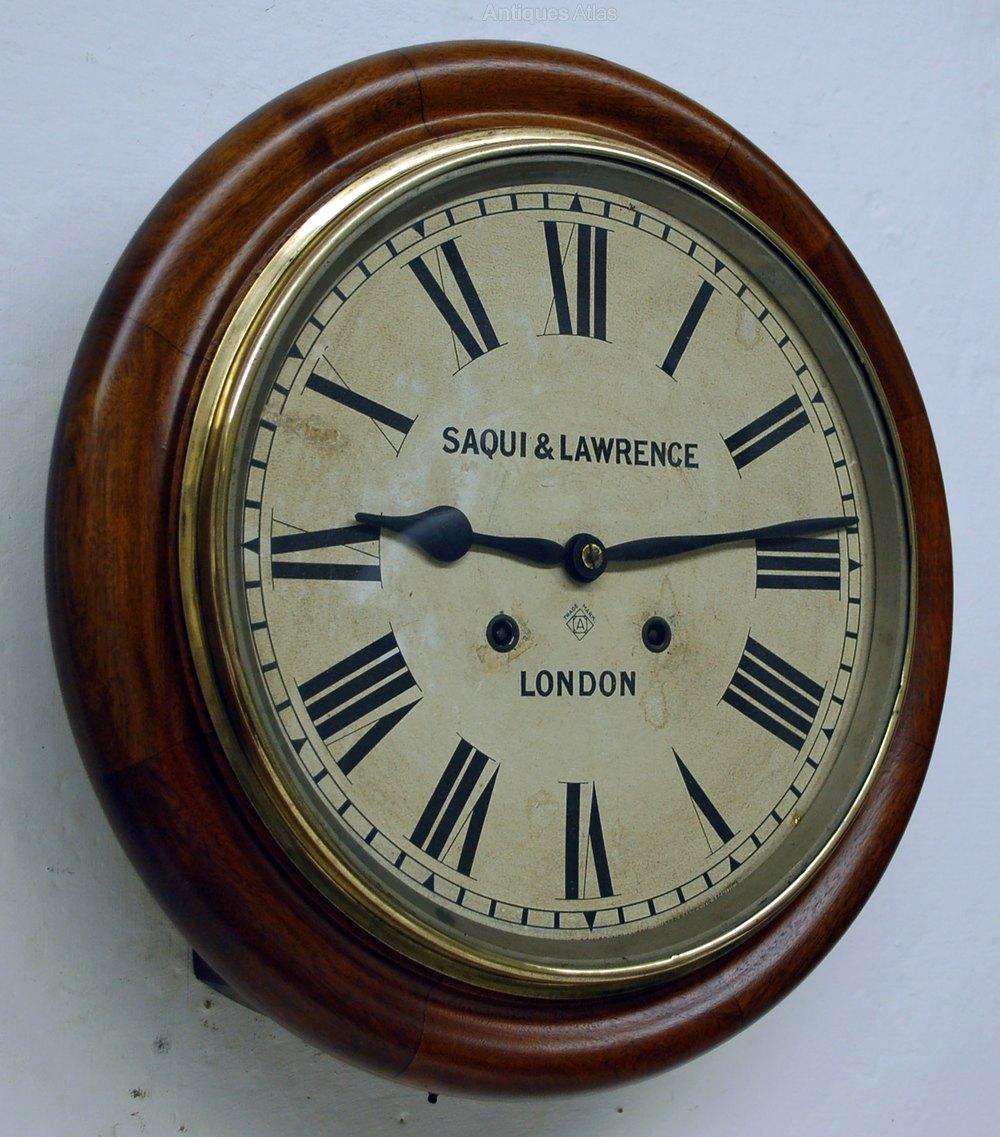 Antiques Atlas STRIKING Wall Clock By Ansonia London
