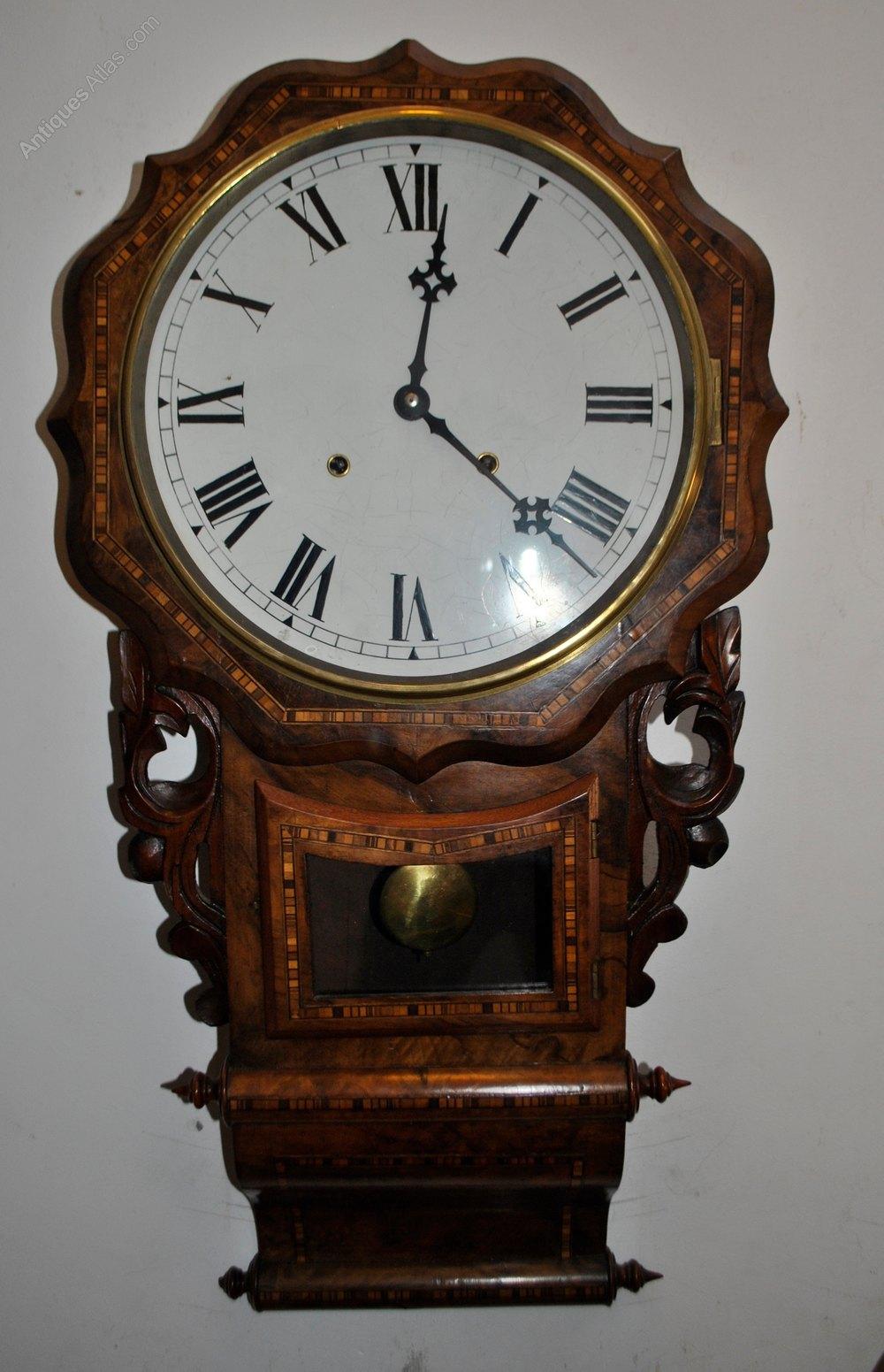Antiques Atlas American Drop Dial 8 Day Striking Wall Clock