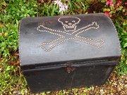 Antique pirate chest trunk