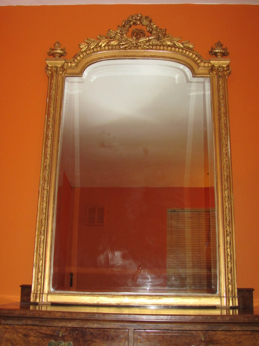 Antiques atlas french 19 century gilt overmantle mirror for What is a gilt mirror