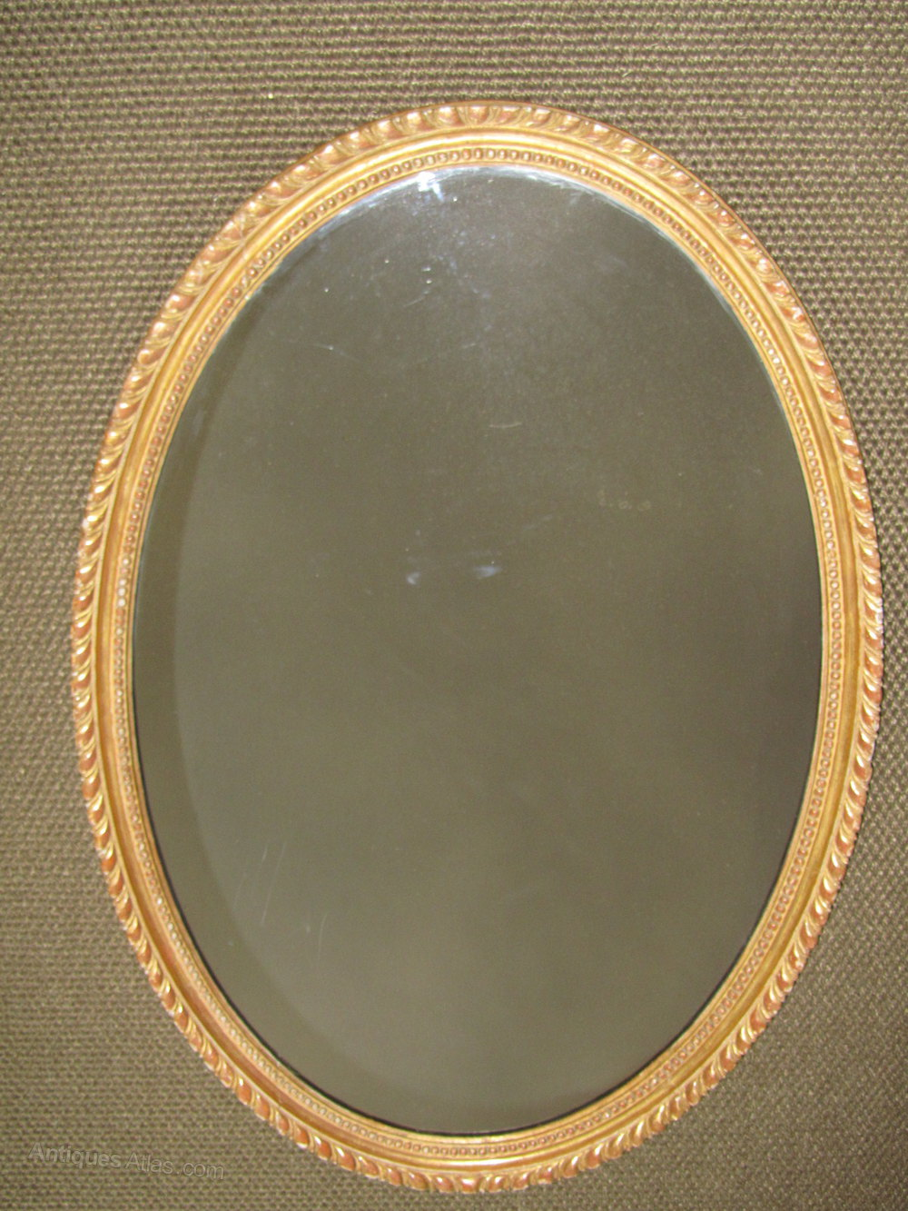 Antiques atlas george iii oval giltwood wall mirror c 1775 for Oval wall mirror