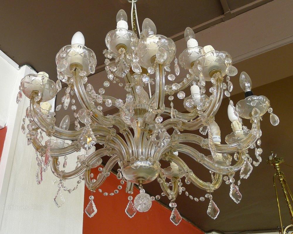 Antiques atlas 1920s crystal chandelier 1920s crystal chandelier arubaitofo Gallery
