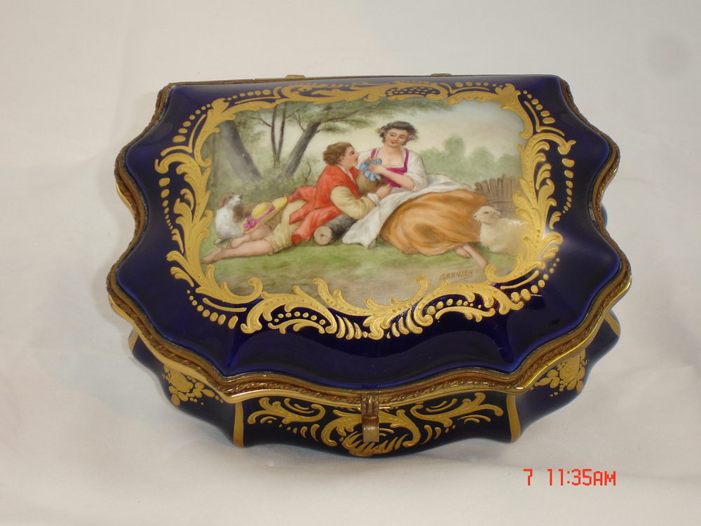 Z Marine Sevres Sevres Jewel Box Antique