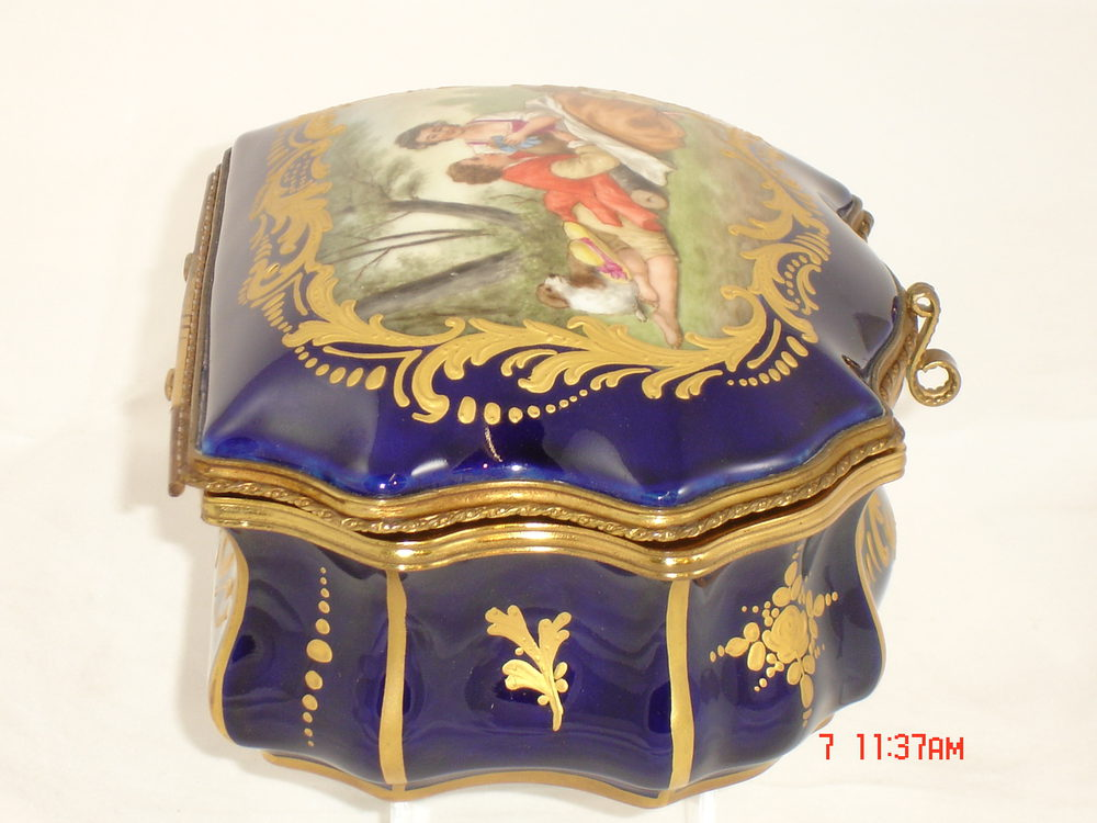 Z Marine Sevres Sevres jewel box French