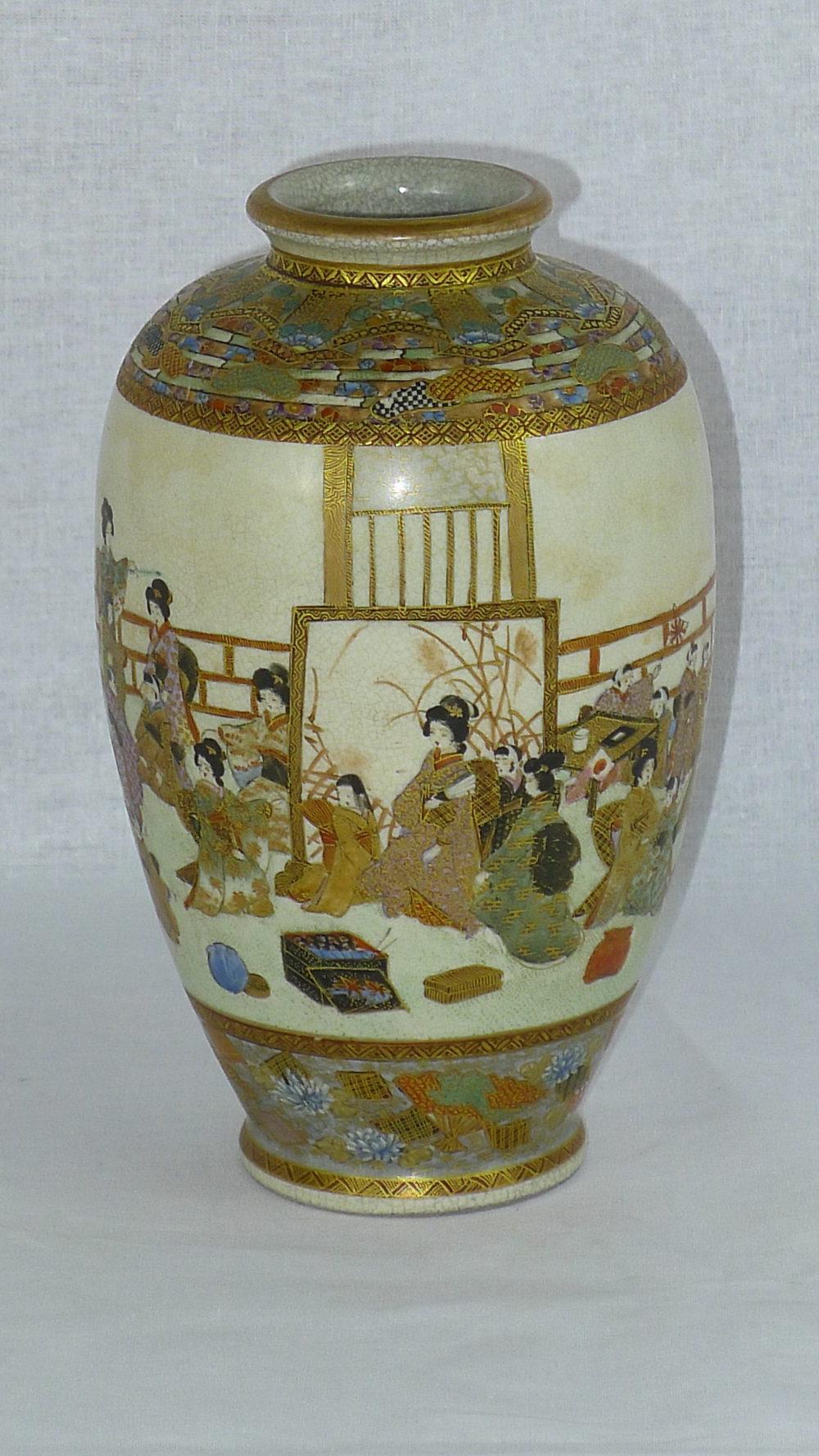 Antiques Atlas 19th C Signed Japanese Satsuma Vase